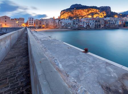 Cefalu. Sicily. Old city. Banco de Imagens