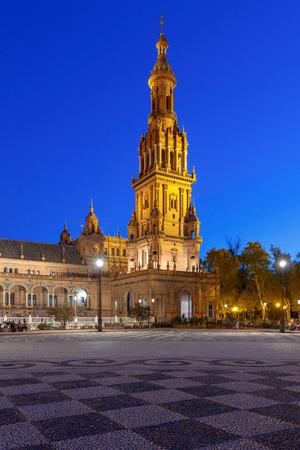Seville. Spanish Square or Plaza de Espana.