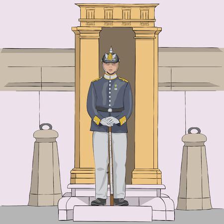 Stockholm. Royal Guardsman. Vector.