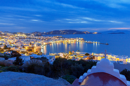 Chora. Mykonos. Aerial view of the city.