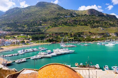 Italy. Sicily. Castellammare del Golfo. Banco de Imagens