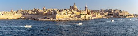 Valletta. The building of the Cathedral of St. Paul on a sunny day.