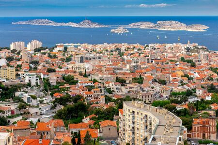 Aerial view of the town If island and the Mediterranean Sea on a sunny day. Marseilles. France. Reklamní fotografie