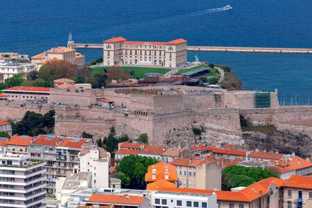 The famous imperial palace Faro on the hill of the old port. Marseilles. France. Reklamní fotografie