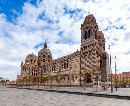 Church Eglise Saint-Laurent de Marseille on the promenade. France.