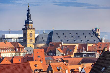 Bamberg. Aerial city view in the evening.