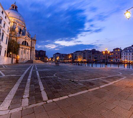 Venice. Church of Santa Maria della Salute at sunset.
