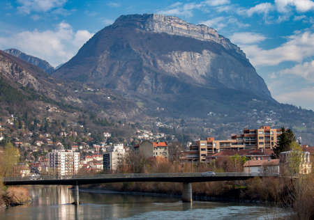 Grenoble. The city embankment.