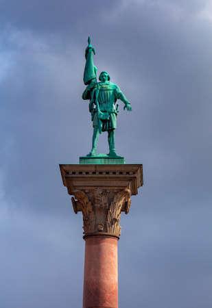 Stockglm. Engelbrekt Engelbrektsson statue. Standard-Bild