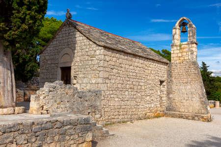 Old stone medieval church. Standard-Bild