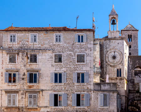 Split. Old stone medieval tower.