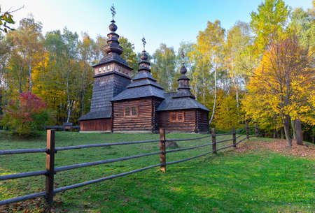 Western Ukraine. Traditional old church.