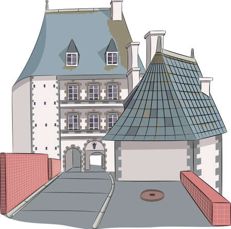 An old French chateau.
