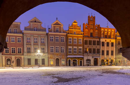 Poznan. Old Town Square at blue hour.