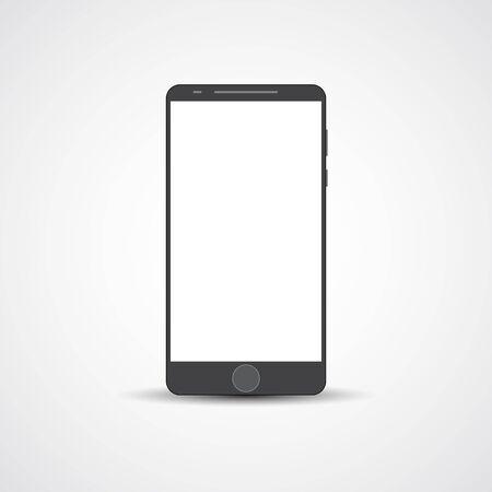 cellphone icon: Touchscreen cellphone vector concept illustration.
