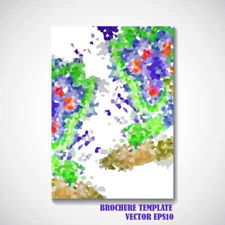 soumis: Brochure de style de fond Résumé de conception - Vector illustration. Illustration