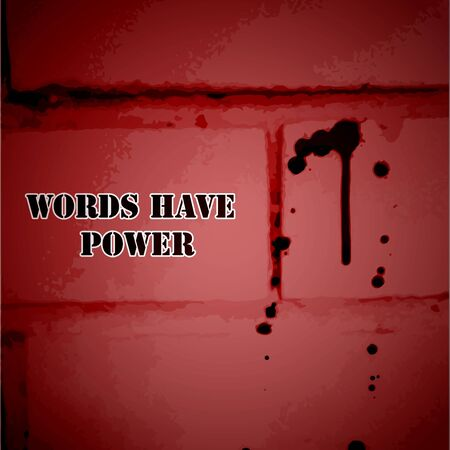 power vector: Words Have Power - Vector background