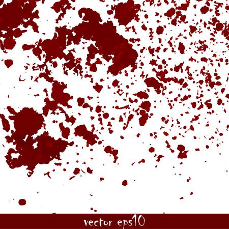splattered: Splattered blood stains - Vector illustration. Illustration