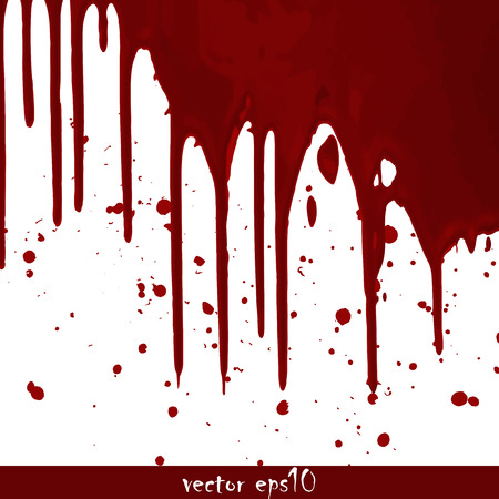 Splattered blood stains - Vector illustration. Vectores