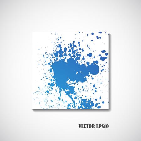 blue water: Blue watercolor background - Vector illustration. Illustration