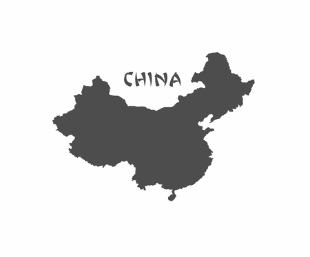 asia pacific map: Concept map of China, vector design Illustration. Illustration