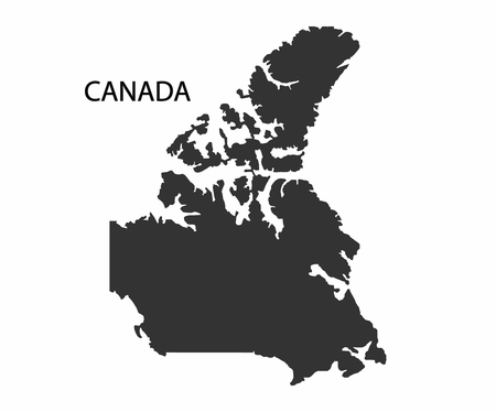 pacific northwest: Concept map of Canada, vector design Illustration. Illustration
