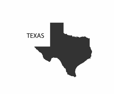 Concept map of Texas, vector design Illustration.