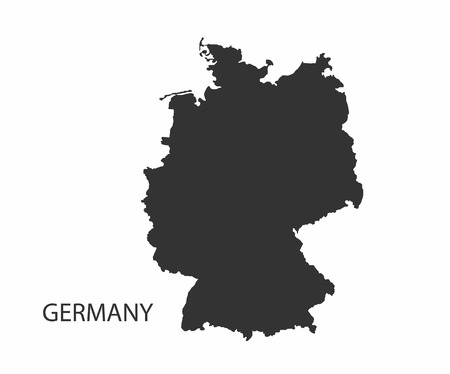 humanism: Concept map of Germany, vector design Illustration.