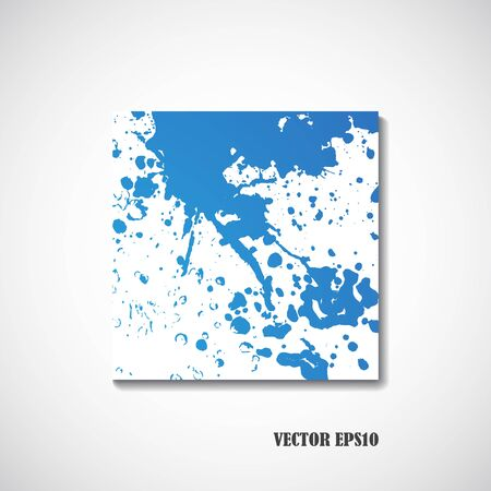 painting drawings: Blue watercolor background - Vector illustration. Illustration