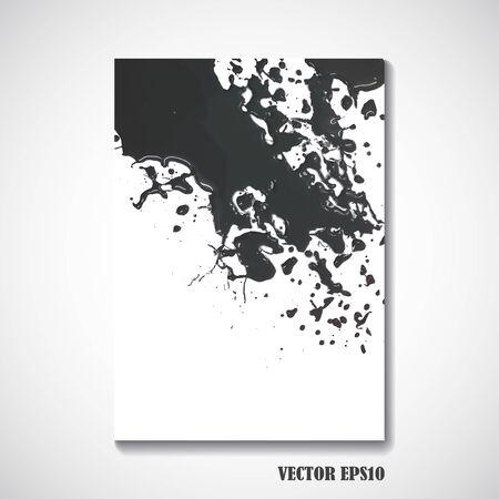 blots: Abstract blots of brochure design - Vector illustration.