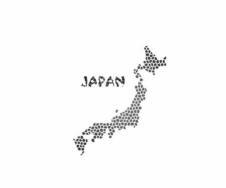 shikoku: Concept map of Japan, vector design Illustration.
