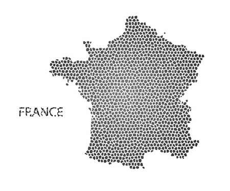 france: Concept map of France, vector design Illustration.