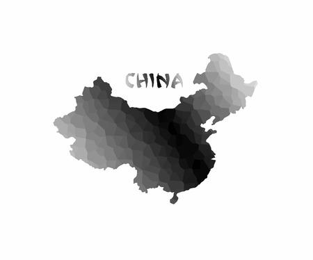 mapa de china: mapa conceptual de China, la ilustración vectorial de diseño. Vectores