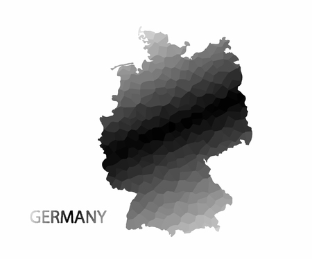 germanic: Concept map of Germany, vector design Illustration.