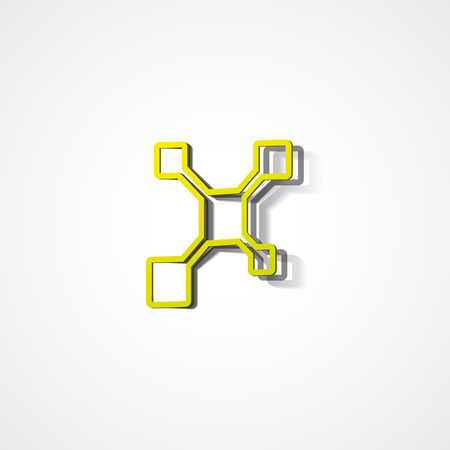 consistency: Molecule web icon on white background Illustration