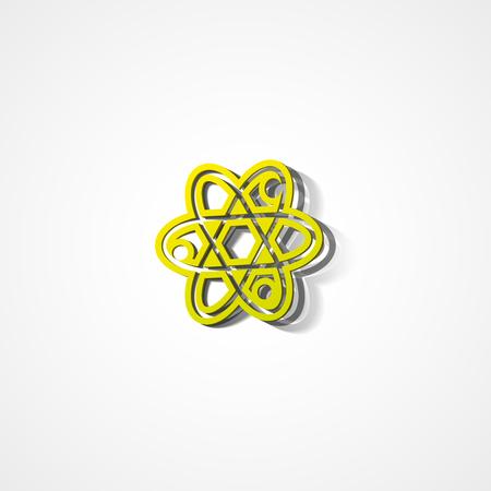 fission: Molecule web icon on white background Illustration