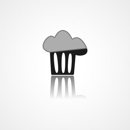 web cap: Cooking cap web icon on white background Illustration