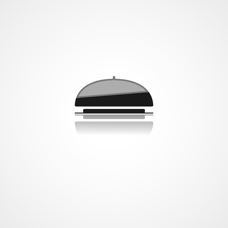food tray: Food tray web icon on white background
