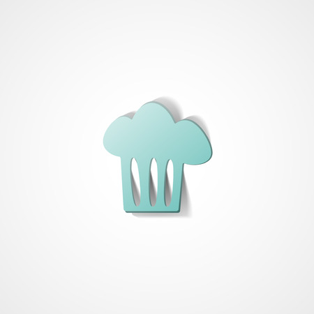 Cooking cap web icon on white background Иллюстрация