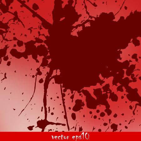 splattered: Splattered blood stains