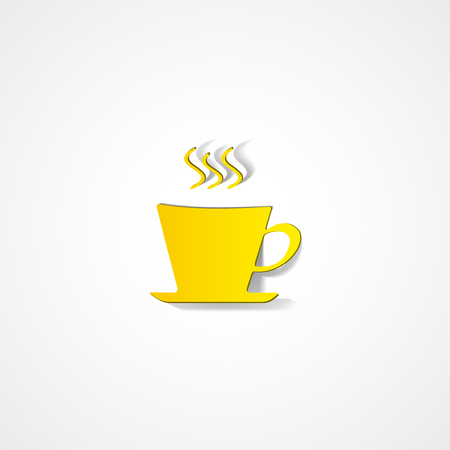 Coffee cup web icon on white background Иллюстрация