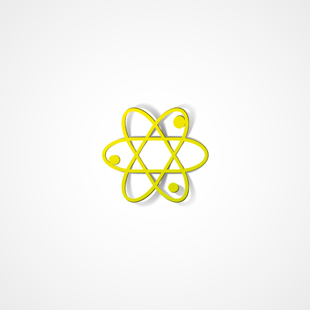 fission: Molecule web icon on white background Illustration