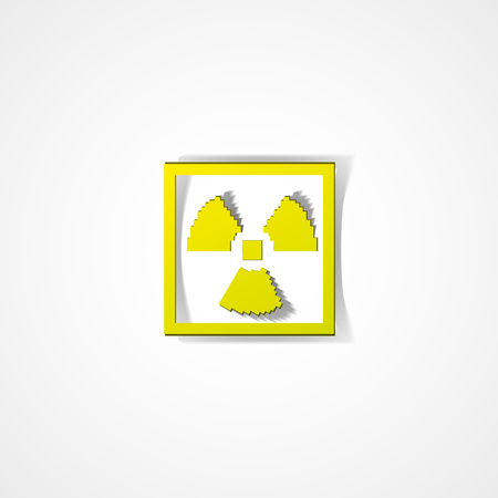 active arrow: Radiation warning web icon on white background