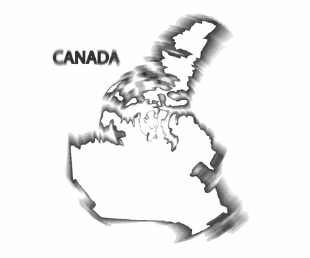 pacific northwest: Concept map of Canada, design Illustration.