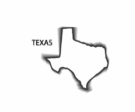 Concept map of Texas, design Illustration.