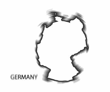 humanism: Concept map of Germany, design Illustration.