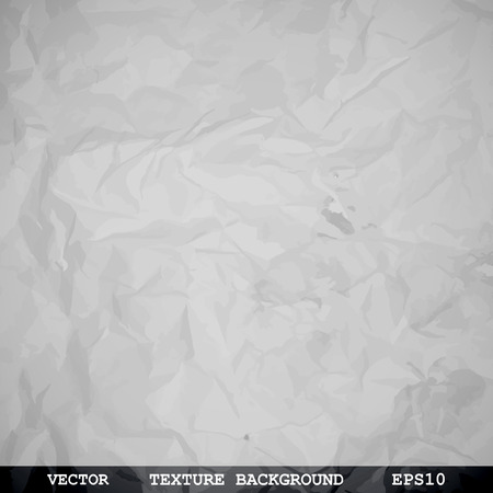roll paper: Designed texture of crumpled paper - Vector background