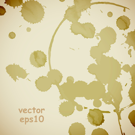 discolored: Coffee stains on the white background - Vector illustration. Illustration