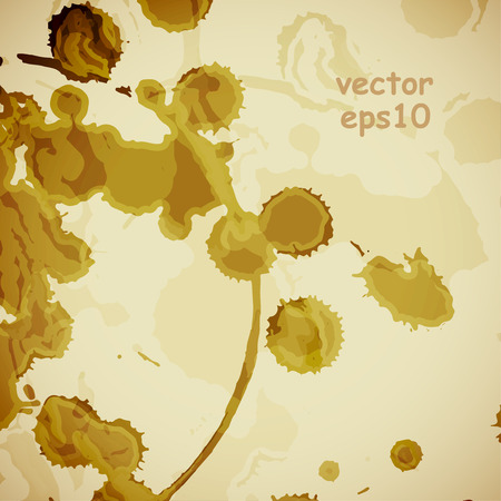 Coffee stains on the white background - Vector illustration. 向量圖像