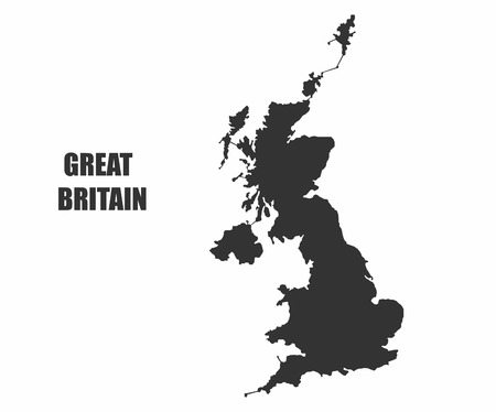 eire: Concept map of Great Britain , vector design Illustration.